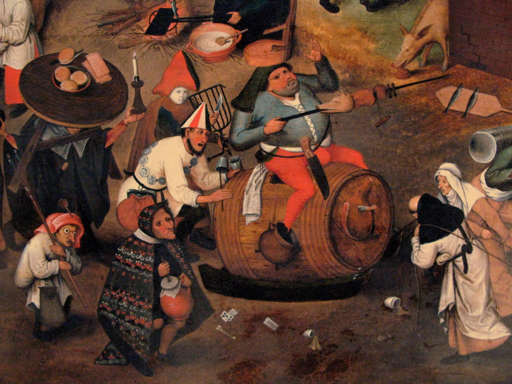 Battle of Carnival and Lent, Pieter Brueghel the Younger (1564 – 1638)