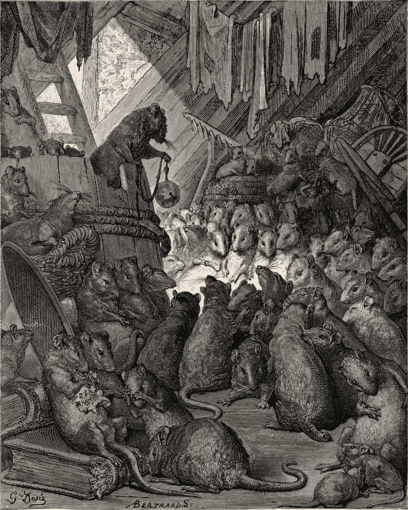 The council of the rats, Gustave Doré