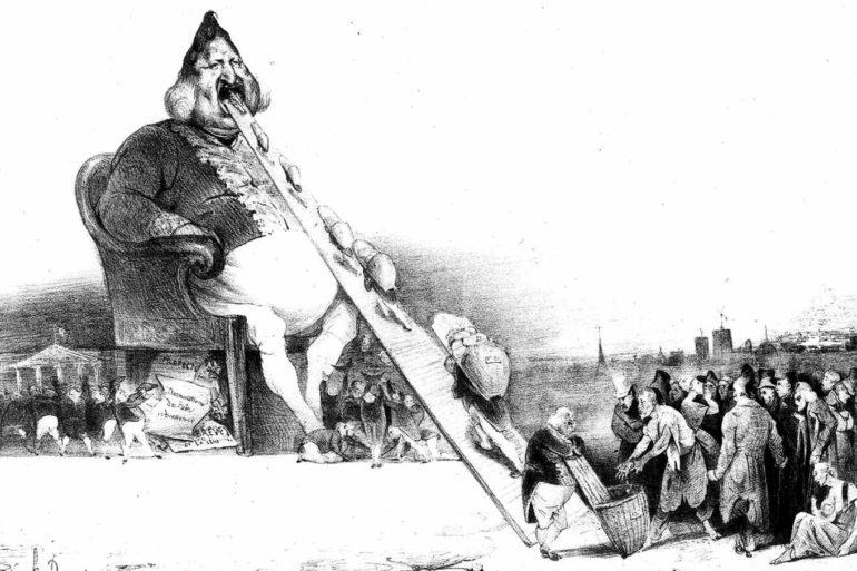 Gargantua, a satirical lithograph by Honoré Daumier, 1831.